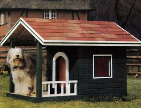 Large dog house design with