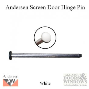 Hinge Pin, Screen Door - White