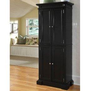 Black Storage Cabinet With