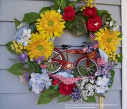 Decorative front door wreath