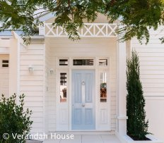 Front door and weatherboard