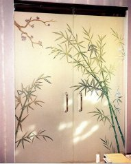 Bamboo Glass Frosted Doors