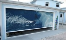 Garage door screen panels
