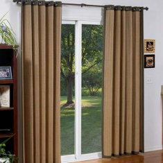 Window curtains for sliding
