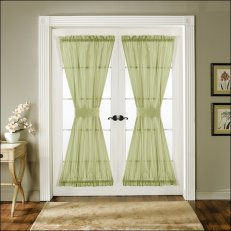 Kitchen door curtains