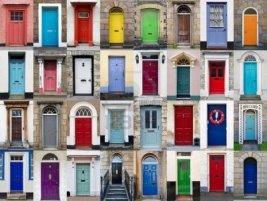 Painting your front door adds