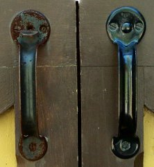 Barn door handle - group