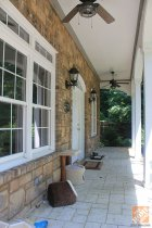 Front Porch Decorating Ideas: Front door before the front porch makeover