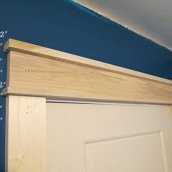 Simple Craftsman Door Trim Tutorial | Cape27Blog.com