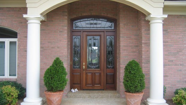 Wooden front Doors with glass