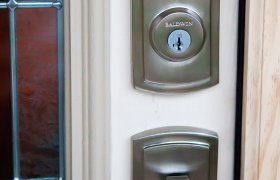 Front door locksets