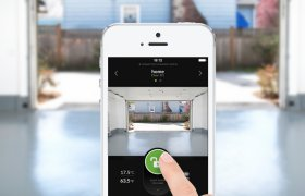 Garage door remote app