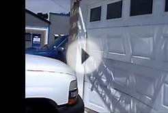 Car Crash -Garage Door Repair- 3 Panels Replaced.