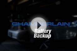 Chamberlain: Battery Backup Garage Door Opener