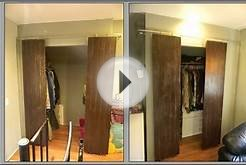 Closets with sliding barn-style doors