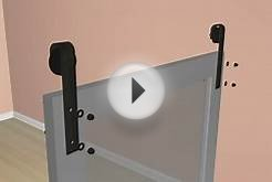 How to install ACME barn door hardware on concrete walls.