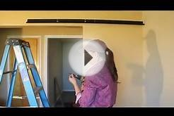 How to install pair of sliding barn doors with RLP V track
