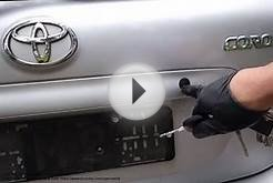 How to service and repair stuck car door key lock